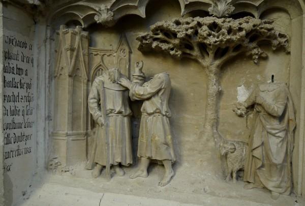 Cathédrale de nantes les bas reliefs bibliques