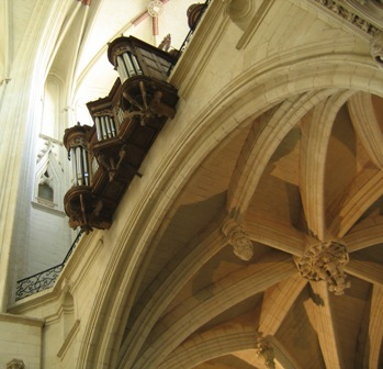 La tribune d'orgue